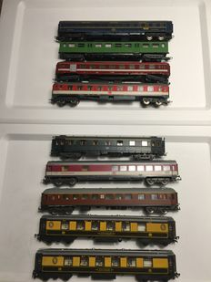 Roco/Hornby/Lima H0 - 9 various passenger cars Pullman and DB