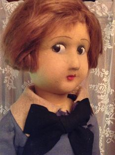 Antique Lenci doll, has served as a showcase model of no less than 80 cm large