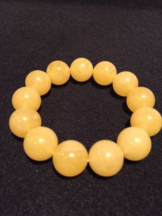 Ø 18-19 mm Butterscotch Baltic amber beads bracelet