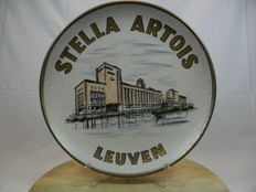 Unique and rare wall plate of Stella Artois. 1960s/1970s