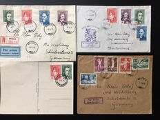 Finland 1894/1949 - 22 letters and cards with FDC heraldic lion 24M Michel 316