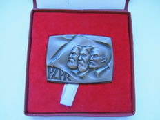 Poland/USSR - Big Bronze Medal Marx Engels Lenin Wroclaw (Breslau) For the extension of Marxism-Leninism Ideology