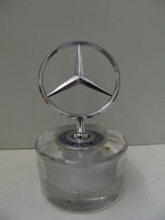 Mercedes-Benz star on glass base - 13 cm