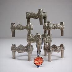 Quist Germany Württemberg – set of 7 Brutalist stackable candleholders.