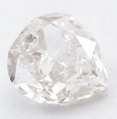 IGI certified Pear Modified Brilliant - 0.14 ct