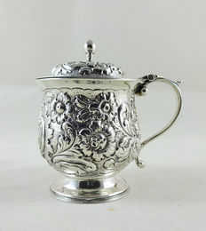 Rare Scottish Provincial silver mustard pot, William Ritchie, Perth, ca 1800