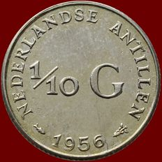 Antilles – 1/10 guilder (Proof) 1956 Juliana – silver