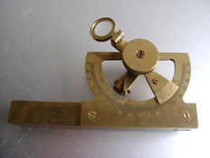 Antique brass spirit level angle meter 19th/20th century