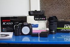 PENTAX K10D 10.2MP Digital SLR Body w/BOX  +DELTA D-BG2 grip + smc PENTAX-DA 16-45mm f:4 ED AL [IF].