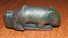 Roman bronze Hare grip of a key - 50 mm