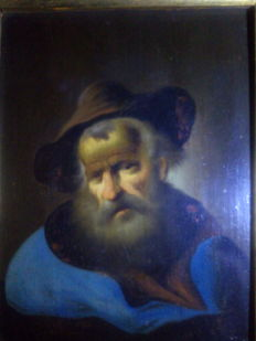 Unknown artist - Old man with hat - Probably Italy around 1800