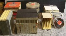 Lot of 39 Audiotapes and tape storageboxes - Basf-TDK-Philips