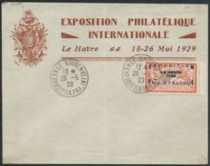 France 1929 – Le Havre Philatelic Exhibition, signed Calves, Yvert No. 257A