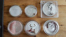 Europe – 10 Euro 2003/2004 (6 different ones) - silver