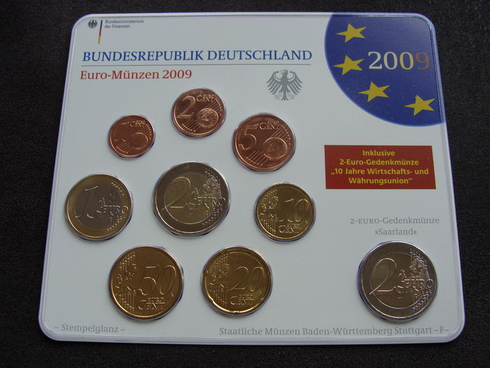 Germany Euro Year Pack 2009 A D F G J Including 5x 2 Euro