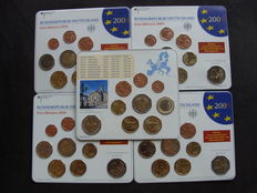 Germany - Euro Year pack 2009 A, D, F, G, J, including 5x 2 Euro Saarland and 10 years EMU