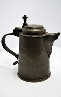 Pewter pitcher - inscription Schöning - Germany - 19th century