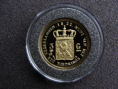 "The Nethelands 0 3 guilders 1822 U ""King Willem I"" re-mint - gold"