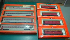 Rivarossi - 2706/2996/2997 - Lot of 4 passenger car of Southern Pacific and 4  passenger car f Kansas City St. Louis & Chicago