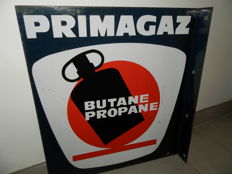 Primagaz Enamelled plate Double sided - 1970 (50cm x 46cm)