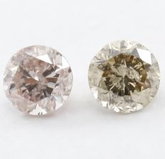 IGI certified Round Brilliant Pair - 0.31 ct - No Reserve