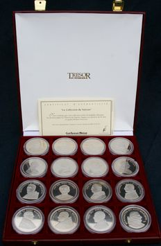 France - National Treasure - The Vatican Collection (case of 24 medals)