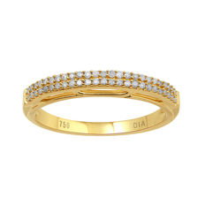 No reserve . Brand New 18kt yellow gold diamond eternity ring.