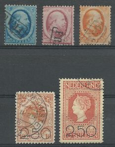 The Netherlands 1864/1920 - King Willem III and Clearance issue - NVPH 4/6 + 104/105