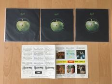 "Lot of 3 x Beatles 7"" + Promo leaflet (Singapore)"