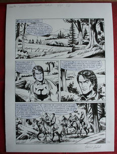 "Sedioli, Gianni and Laurenti, Mauro - plates and sketches for ""Zagor"""