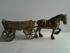 Bronze horse and cart