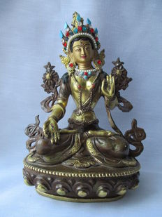 White Tara statue – India – late 20th century