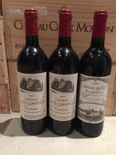 2 x 1997 Chateau l'Evangile & 1 x 1997 Chateau Le Gay, Pomerol – 3 bottles in total.