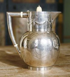 Silver coffee pot, London, 1884