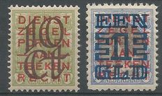 The Netherlands 1923 – clearance issue – NVPH 132C + 133B.