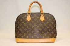 Louis Vuitton – Monogram Brown Leather Alma Hand Bag