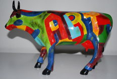 Cynthia s. Hudson for Cowparade-Art of America-LARGE-Resin