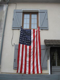 exceptional! us flag ww2  3 m x 1,55!!!