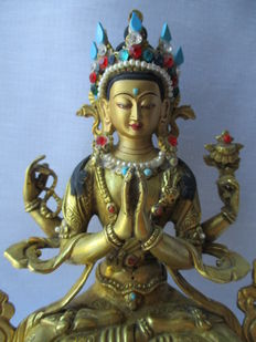 Statue representing Chenrezig – India – late 20th century