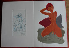 "Pasini, Fabrizio - Cucca, Vincenzo - Troiano, Enzo - 3x illustrations ""Pin up"""