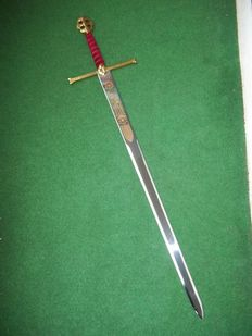 Franklin Mint-The sword of Christopher Columbus-with 24 carat gold plated hilt-includes certificate of authenticity.