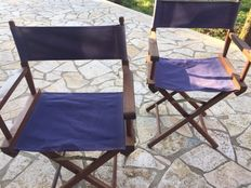 2 vintage director's chairs