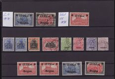 German occupation 1914/1918 - with Belgium, Upper Silesia on 10 plates