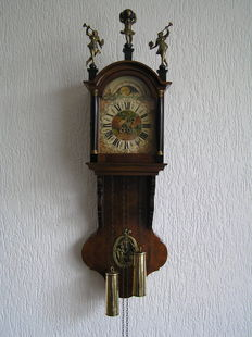 Frisian notary or office clock, of walnut wood - period 1970