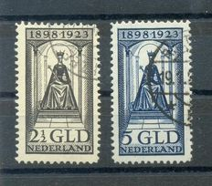The Netherlands, 1923, Government Anniversary, NVPH 130 and 131