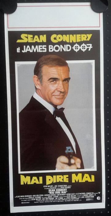 James Bond 007 - Never Say Never - Original Italian Movie Poster - 1983 - 33x70 cm - Sean Connery