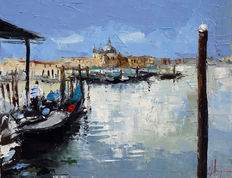 Dominique Kleiner (XXe) – From the coast of San Marco (VENICE)