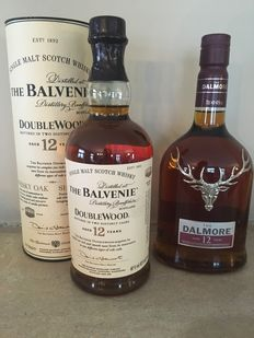 2 bottles - The Dalmore & The Balvenie 12 years old