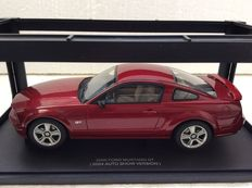AUTOart - Scale 1/18 - 2005 Ford Mustang GT (2004 Auto Show Version) in Fire Red