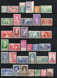 France 1900/1940 - Collection of 34 stamps between Yvert # 111 and 441